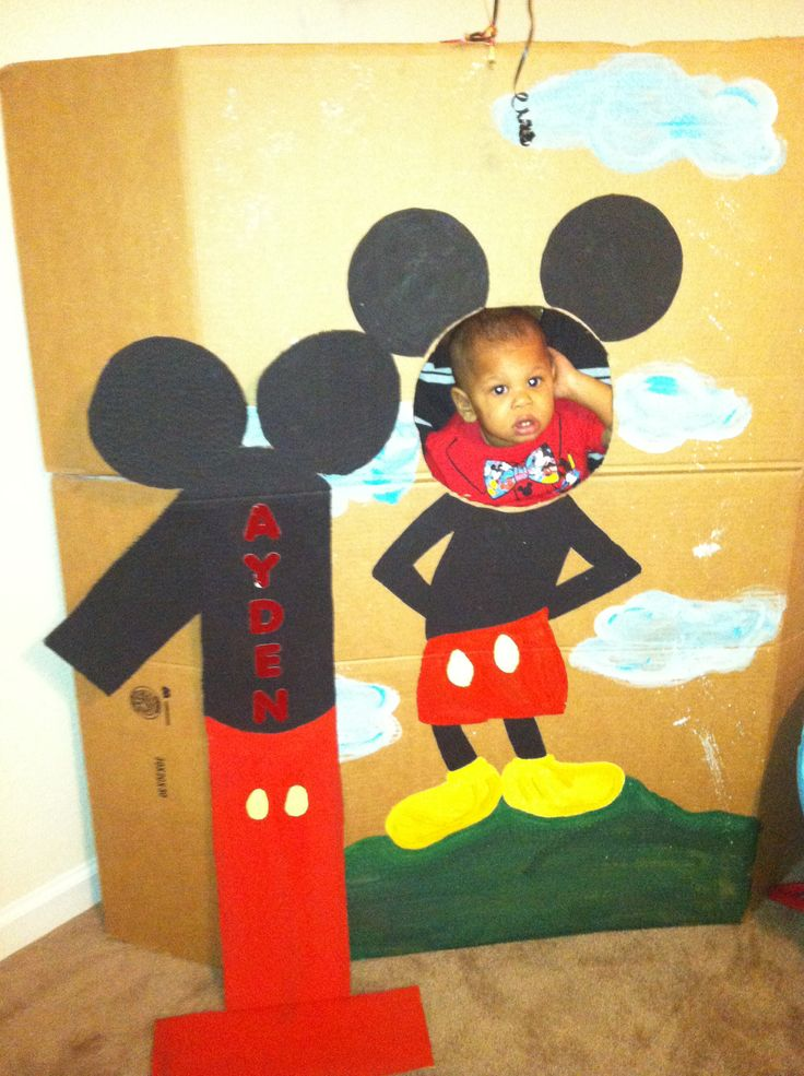 Mickey Mouse Birthday Photo Booth | 2nd Birthday ...