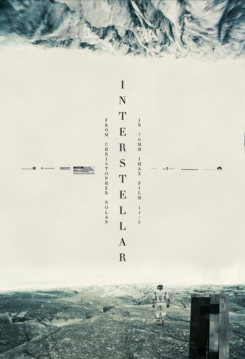 Interstellar movie posters - that typography!!