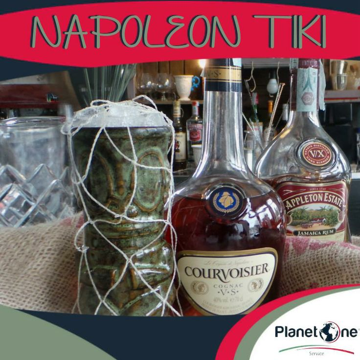 "Cocktail Alcolico ""Napoleon Tiki""  Ingredienti: 1 oz di Rum Gold Jamaica 1 oz di Brandy Francese ½ oz di Cointreau ½ oz Glassa Alcolica Rum Zenzero e Lemongrass ¼ oz Honey Mix 1 oz Succo di Lime  Per la ricetta completa visita:http://www.planetone.it/napoleon-tiki/"