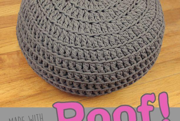 Free Crochet Pattern: POOF! Floor Pillow Pouf Ottoman ...