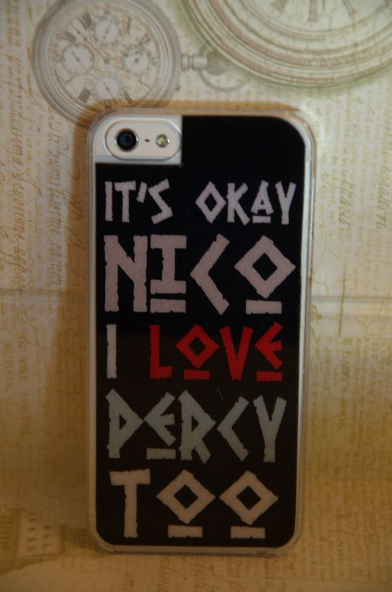 Iphone 5/5s Case, Designer Case, Nico Di Angelo Inspired Percy Jackson Cell Phone Case on Etsy, $19.99