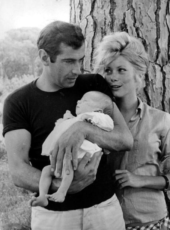 Catherine Deneuve = chicest mom ever...