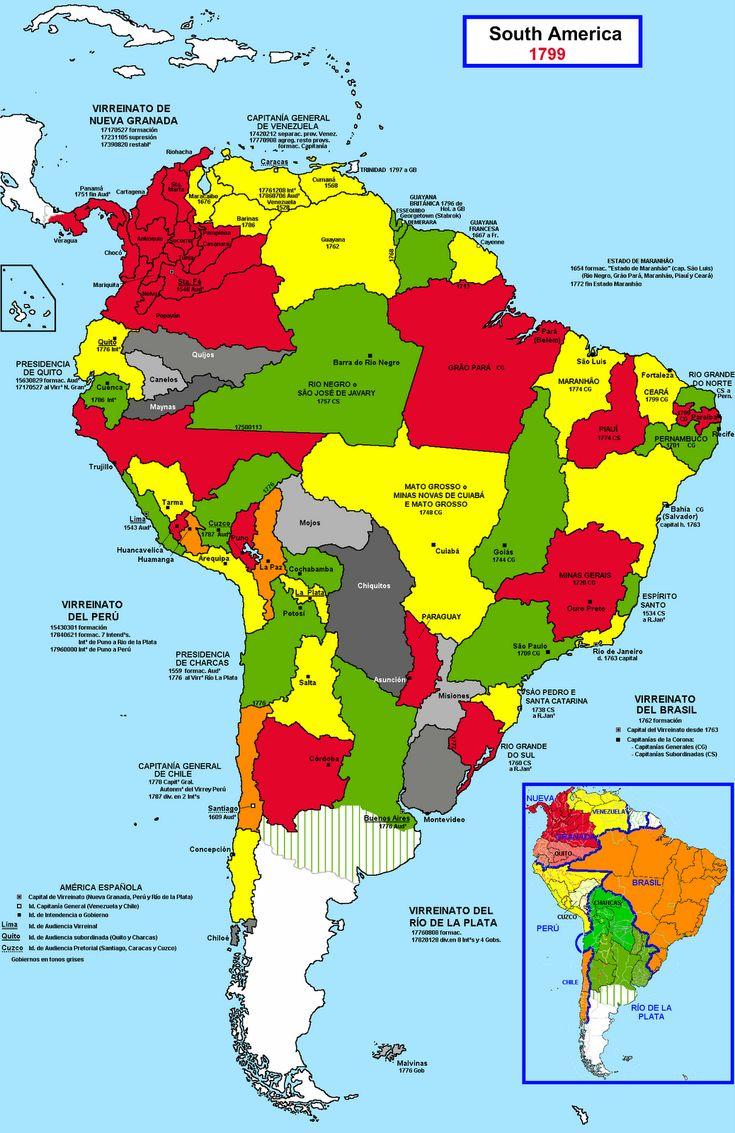 Map Of Latin America During The Latin American Wars 54