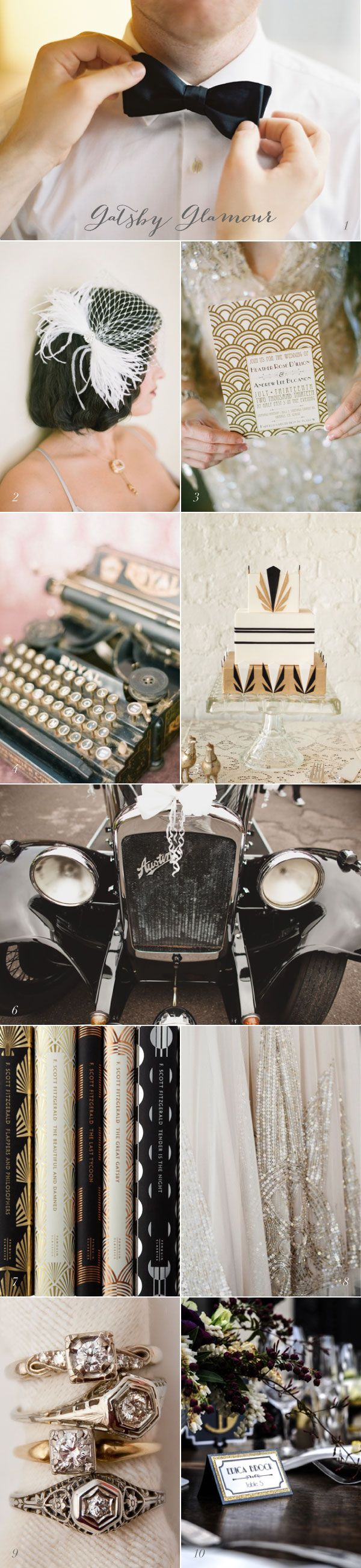 Current Crush Great Gatsby Wedding Inspiration If I don't have a 50s wedding, I shall have a Gatsby Era wedding