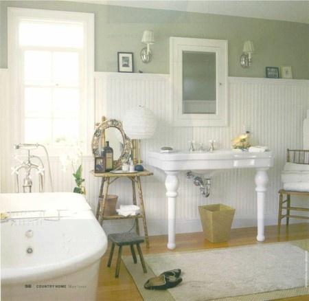 bathrooms: Wall Colors, Beads Boards, Dreams, Vintage Bathroom, Vintage Wardrobe, Bathroom Wall, White Bathroom, Bathroom Ideas, Master Bath
