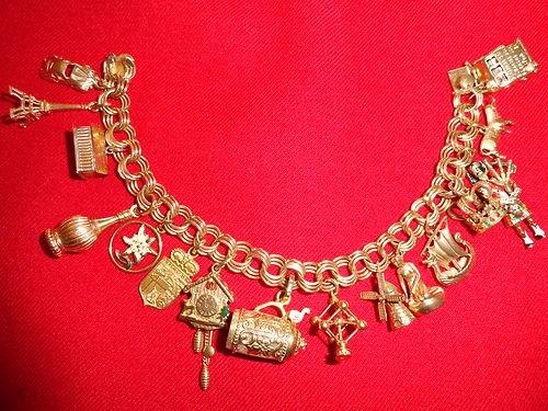 Solid 14k Gold Vintage European Charm Braclet   eBay
