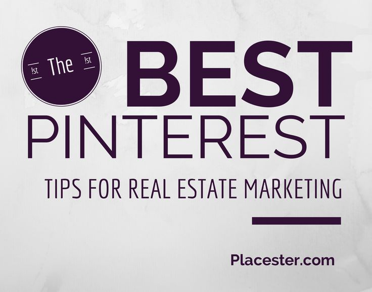 The Best #Pinterest Tips For A #Realestate Agent Interested in Increasing Their Online Visibility: https://placester.com/real-estate-marketing-academy/pinterest-real-estate-marketing/  #socialmedia How to buy a home, buying a home #homeowner