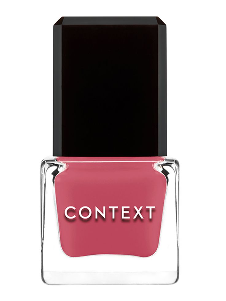 CONTEXT NAIL LACQUER is the next generation of nail lacquer. Rich lustrous colors deliver opaque coverage with a high shine finish. Applies evenly and dries quickly. Our 5 FREE formula is 100% vegan, non-toxic, and free of Formaldehyde, Formaldehyde Resin, Toluene, DBP and Camphor. Mad