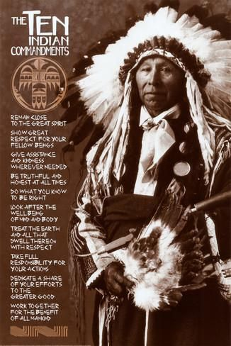 Die zehn Gebote der Indianer Poster bei AllPosters.de