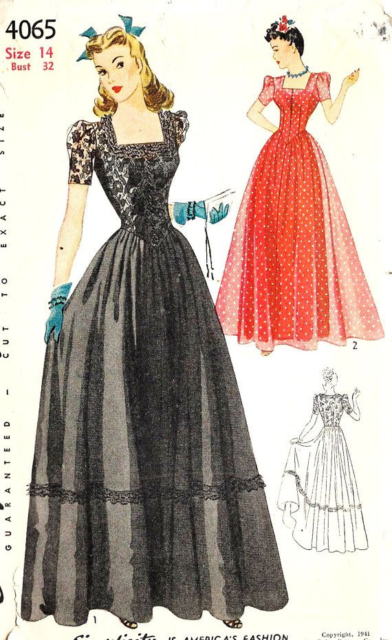 Evening dress 1940s style furniture
