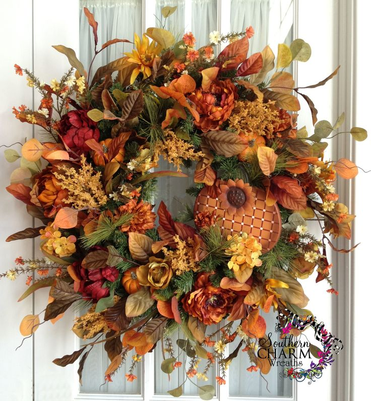 New 98 best Fall Wreaths for Front Door images on Pinterest | Fall  IG07