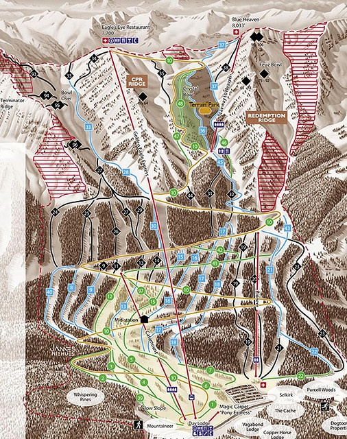 Trail map of Kicking Horse Ski Resort #kickinghorse