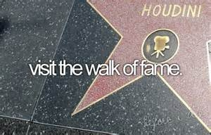 Visit The Walk Of Fame. # Bucket List # Before I Die # Hollywood but I've done it before but I want to it again!!!!!!!!!!!!!!