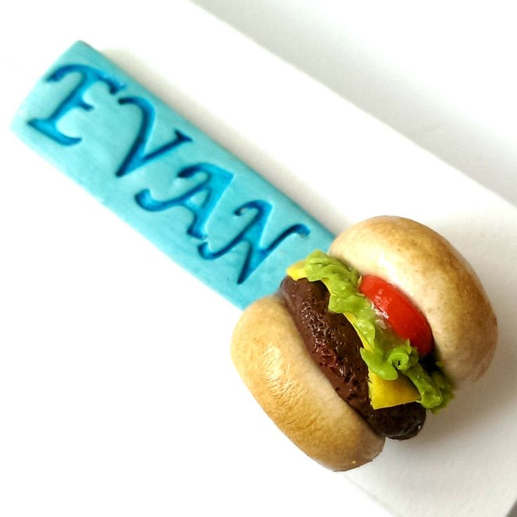 Custom Name Pin with Burger Charm, Name patch name tags for clothes, food Jewelry, Cute Food Pin,Name Pin, Name Badge, Funny Gift by MalynsHandmade on Etsy https://www.etsy.com/listing/510893182/custom-name-pin-with-burger-charm-name