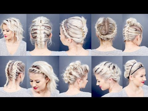 Gorgeous Toronto-based vlogger Ashley Bloomfield shows us an easy hairstyle that combines the beauty of a braid with the elegance of an up-do. This simple pl...