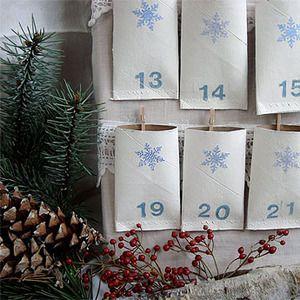 Manualidades de navidad. Calendario de advientopara niños