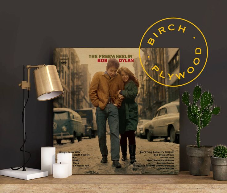 BOB DYLAN: Freewheelin - Album Cover on Wood, Like a Rolling Stone, Blowin in the WInd, Album Cover, Music Poster, Music Art Print by InHousePrinting on Etsy