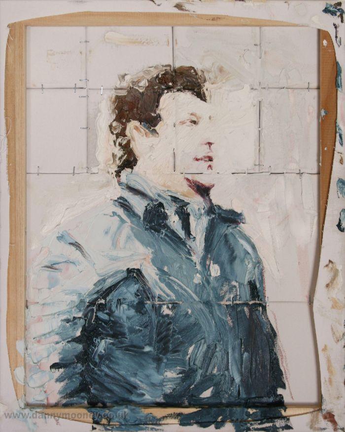 Danny Mooney 'What's that?' Mixed media 50 x 40 cm