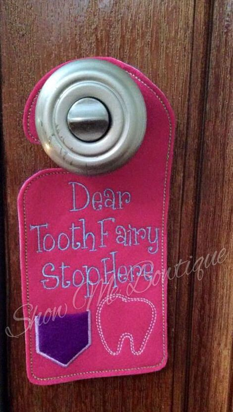 Tooth Fairy Door Hanger design Instant Download by ShowMeBowtique on Etsy // & 119 best Tooth fairy ideas images on Pinterest | Fairy houses ... pezcame.com