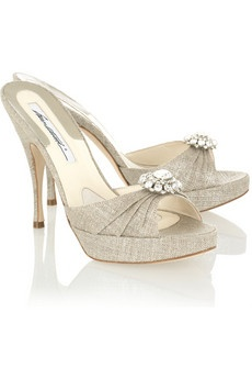 Lovely Wedding Shoes With Sling Back Strap Though