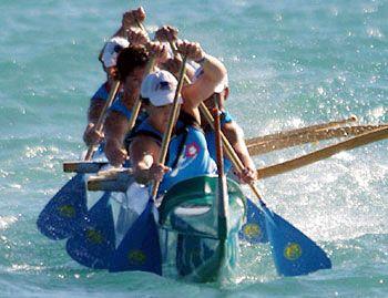 outrigger canoe paddling / waka ama