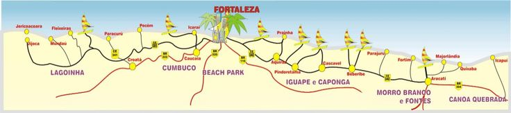 Mapas do Ceará - Regiao de Fortaleza - Brasil