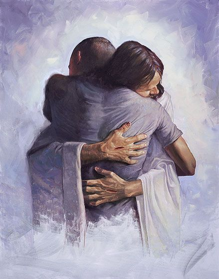 The Hug by Chris Hopkins. I don't think Christian painter ...