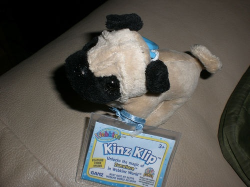 New SEALED Unused Code Webkinz Pug Kinz Klip Clip WE000691 Dog Puppy Zum World 065810329628 | eBay