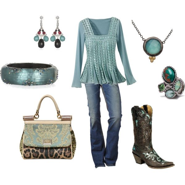 ❥ Turquoise/Aqua: Aqua Cowgirl, Shirts, Color, Cute Outfits, Country Chic, Outfits Ideas, Cowboys Boots, Bags, Classic Chic