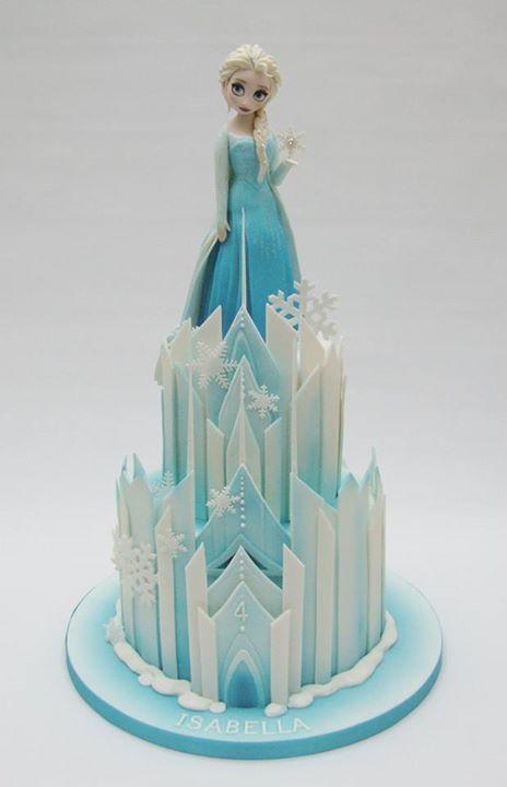 Frozen Elsa castle cake                                                                                                                                                                                 More