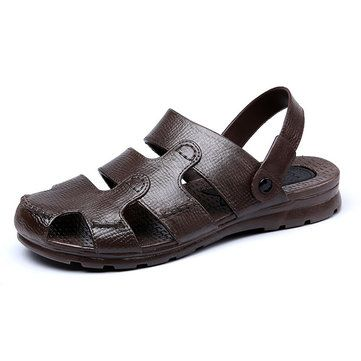 Men Beach Sandals Outdoor Flat Breathable Slipper - US$18.79