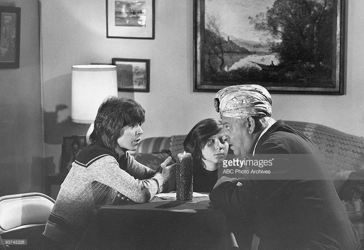 THE PARTRIDGE FAMILY - 'Who is Max Ledbetter and Why is He Saying All Those Horrible Things?' 3/17/72 David Cassidy, Danny Bonaduce, John Banner  (Photo by ABC Photo Archives/ABC via Getty Images)