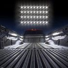 WHITE Truck Bed Tool Box Light Kit with Auto-off Delay Switch 4pc 12inch Tubes 36 LED