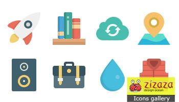 Icon set - SmallFlat - Zizaza item for #freebies #free #freedownload