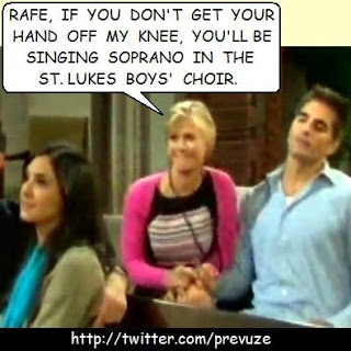 Maybe Rafe thinks he'll find a heavenly experience up Sami's skirt.