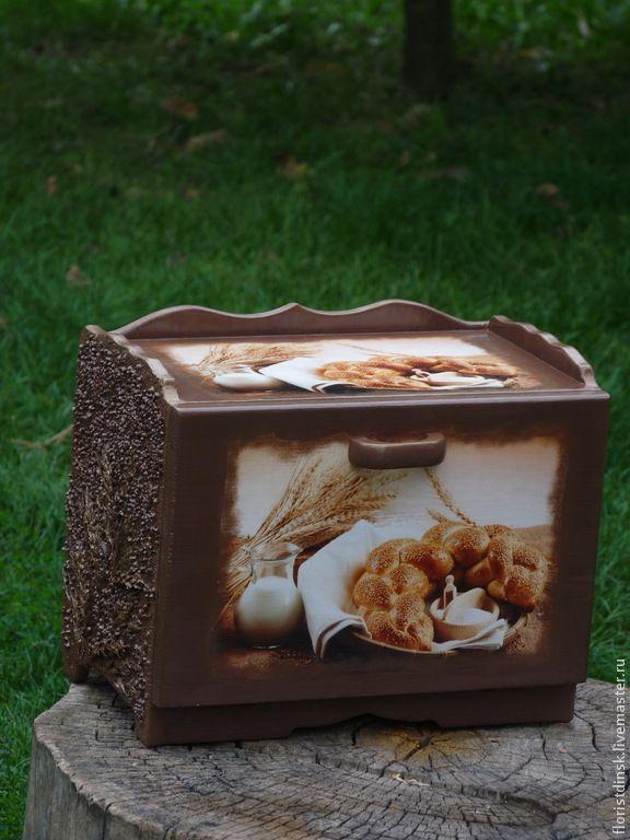 """Купить Кухонные предметы """" Хлебное изобилие"""" - коричневый, хлеб, хлебница…"""