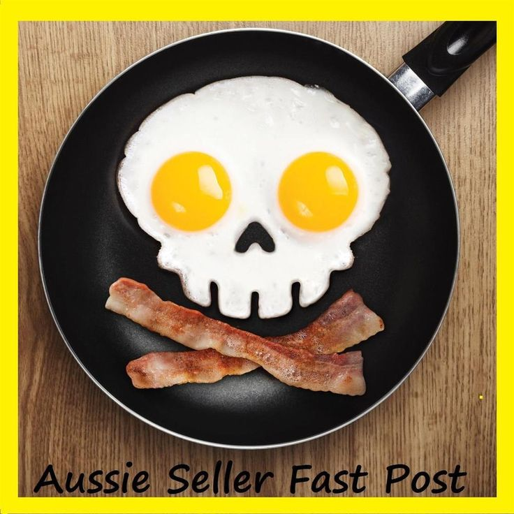 Silicone egg mold Non-stick Skull Eggs cooking tool Fried Frying Mould