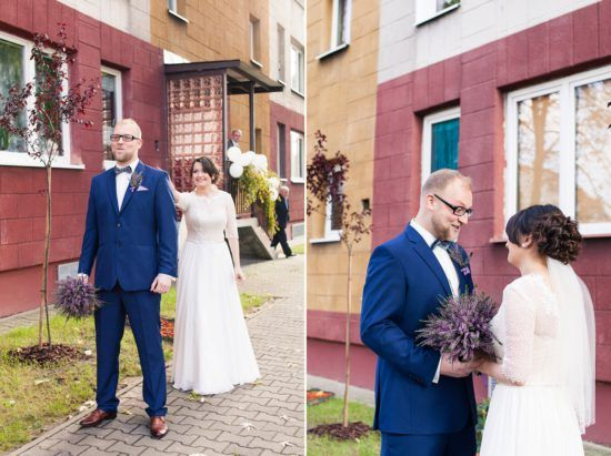 wedding, first look, love, purple, bride and groom, first moment, together, judyta marcol fotografia, fotografia ślubna, wedding photography, pierwsze spotkanie pary młodej, dodatki na ślub, wrzosowy, wrzos