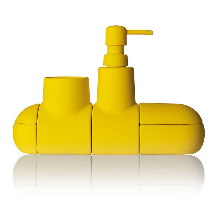 Submarino Bathroom Accessory   Yellow