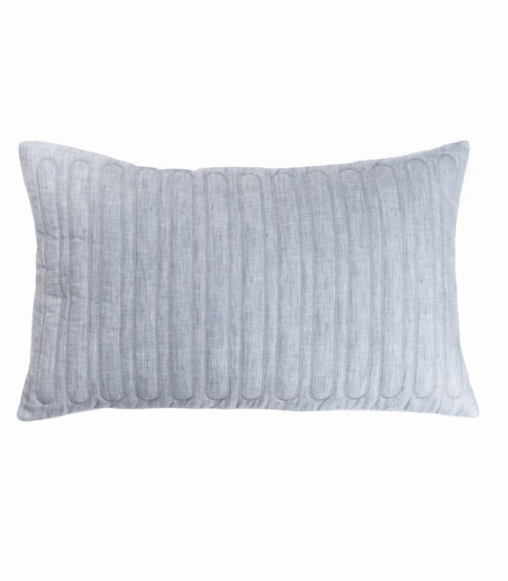 The Stables offers a beautiful collection of Australian designed cushions. The TILDA cushion is rectangular and made from a stunning quilted linen. Colour: blue grey.  Dimensions: 30cm x 50cm Includes feather insert. $84.95 AUD www.thestablesco....