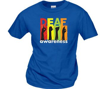 e2c878b42 Deaf Awareness T-Shirts | WorkPlacePro | Deaf Life | Disability awareness,  Developmental disabilities, Disability