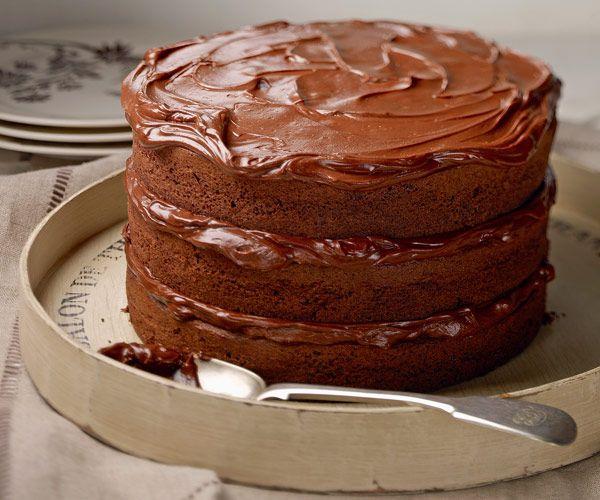 Gâteau géant au chocolat