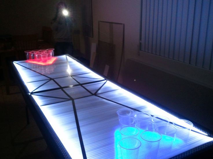 Custom One-of-a-kind LED Beer Pong Table