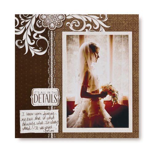 Diving #Wedding 8x8 Scrapbook Layout Page Idea from Creative Memories #scrapbooking http://www.creativememories.com