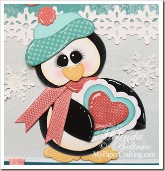 Cartridge Critter Cricut Paper Piecing Penguin from my Artiste Cartridge.