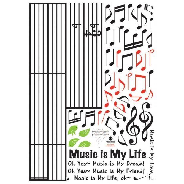 Väggdekor - Musik är livet!