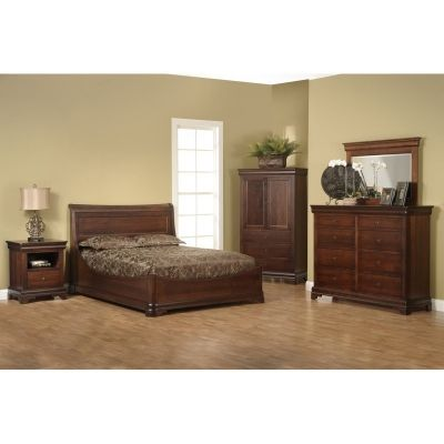 Euro Bed Versailles Furniture Made In USA Outlet Discount Furniture  Selections BED Discount Furniture At Amish Oak And Cherry, Hickory, NC