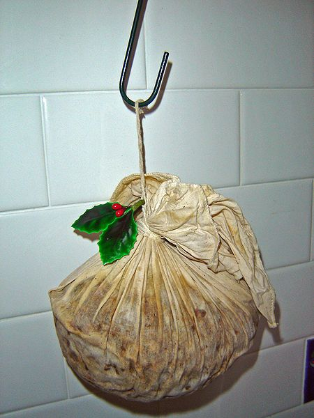 This is the traditional way to make a Christmas pudding--in a bag!