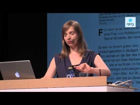 re:publica 2013 - Anne Wizorek: Ihr wollt also wissen, was #aufschrei gebracht hat? - YouTube #rp13