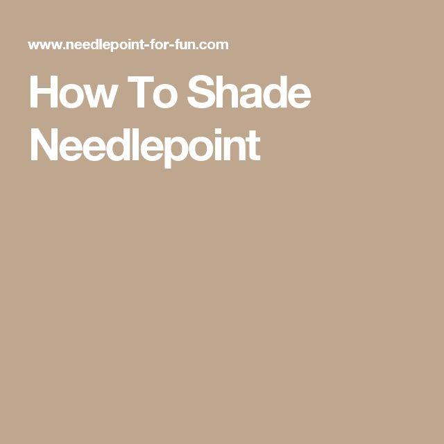 How To Shade Needlepoint